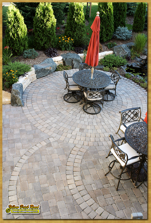 Paver Patio, Plymouth, MN U2013 Borgert Pavers, Cobble Circles With Custom  Inlays