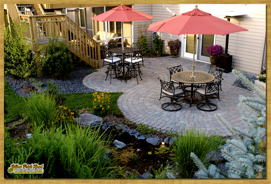 Paver Patio, Plymouth, MN U2013 Borgert Pavers, Cobble Circles, Screen Porch  With