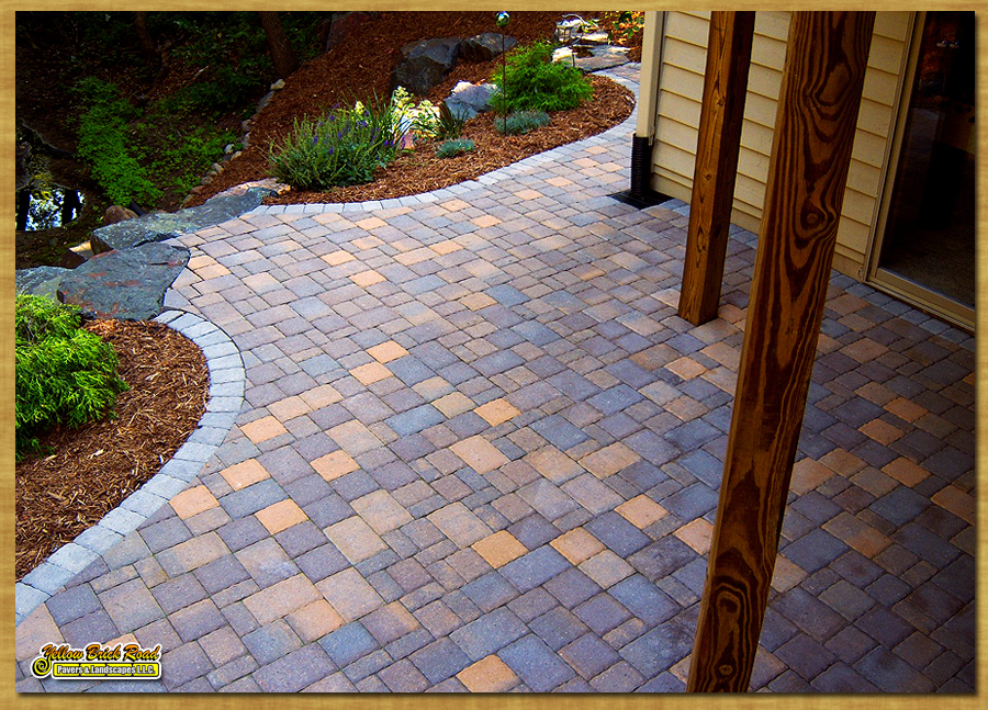 Paver patio, Eden Prairie, MN – Borgert pavers, Cobble series, random  pattern - Natural Stone Flagstone Paver Patios Installed Mpls Minnesota
