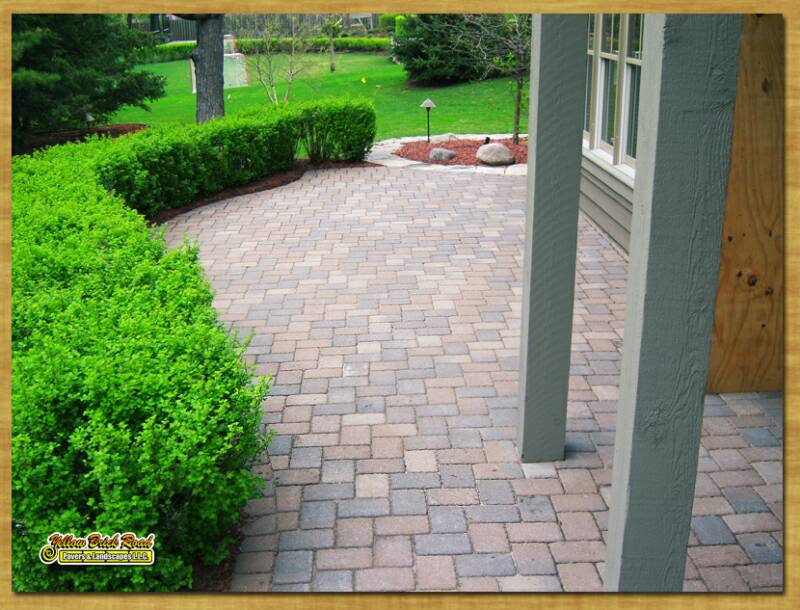 ... professionally designed and installed paver or natural stone patio