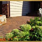 Paver patio, Eden Prairie, MN – Anchor pavers, Kingston circles and stoop overlay